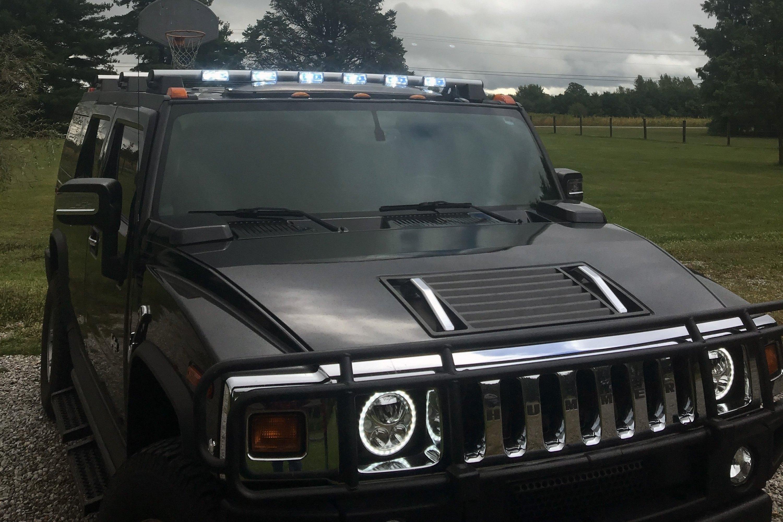 "Delta Lights® - Roof Mounted 8"" Spot Beam LED Light Bar | hummer h2 light bar"