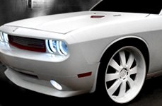 DEMODA® - CONCERTO White on Dodge Challenger