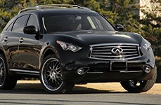 DEMODA® - MAESTRO Black with Polished Lip on Infiniti FX35