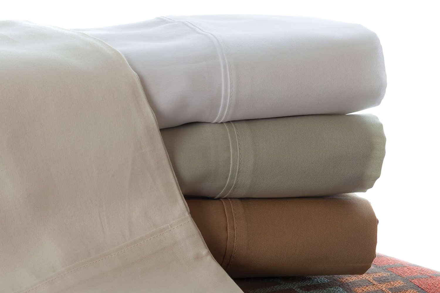Denver Mattress 343503 White Sateen Short Queen Sheet Set
