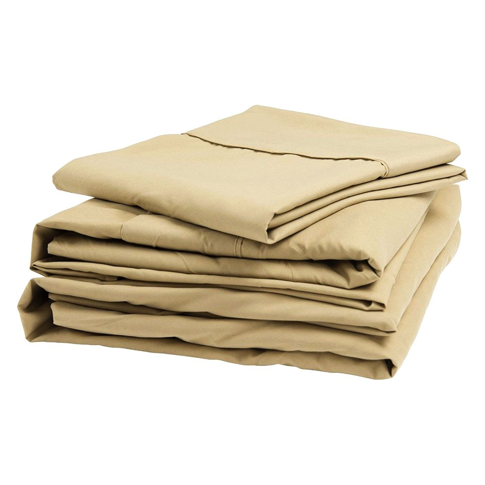 Denver Mattress 343526 Latte Microfiber Sheet Set Short Queen