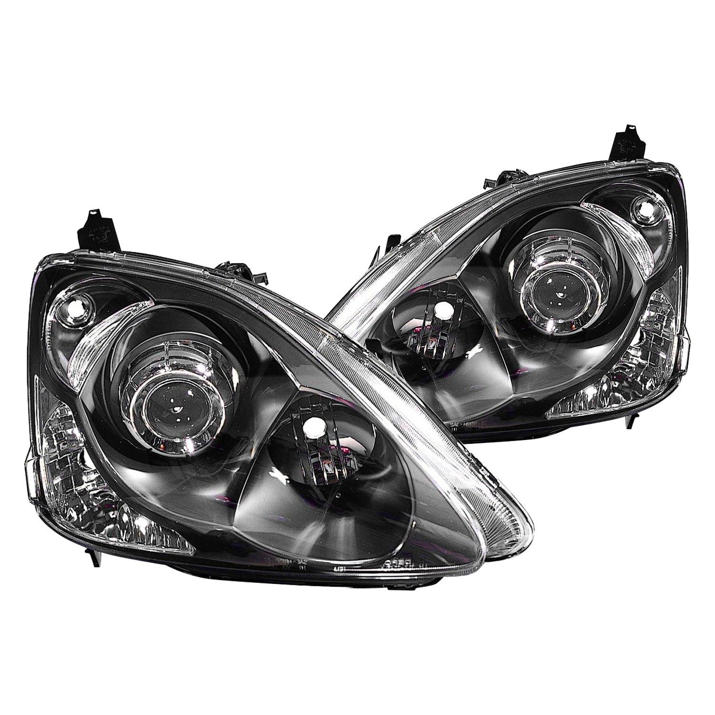 Honda Vehicle Headlights : Depo honda civic  driver and passenger side