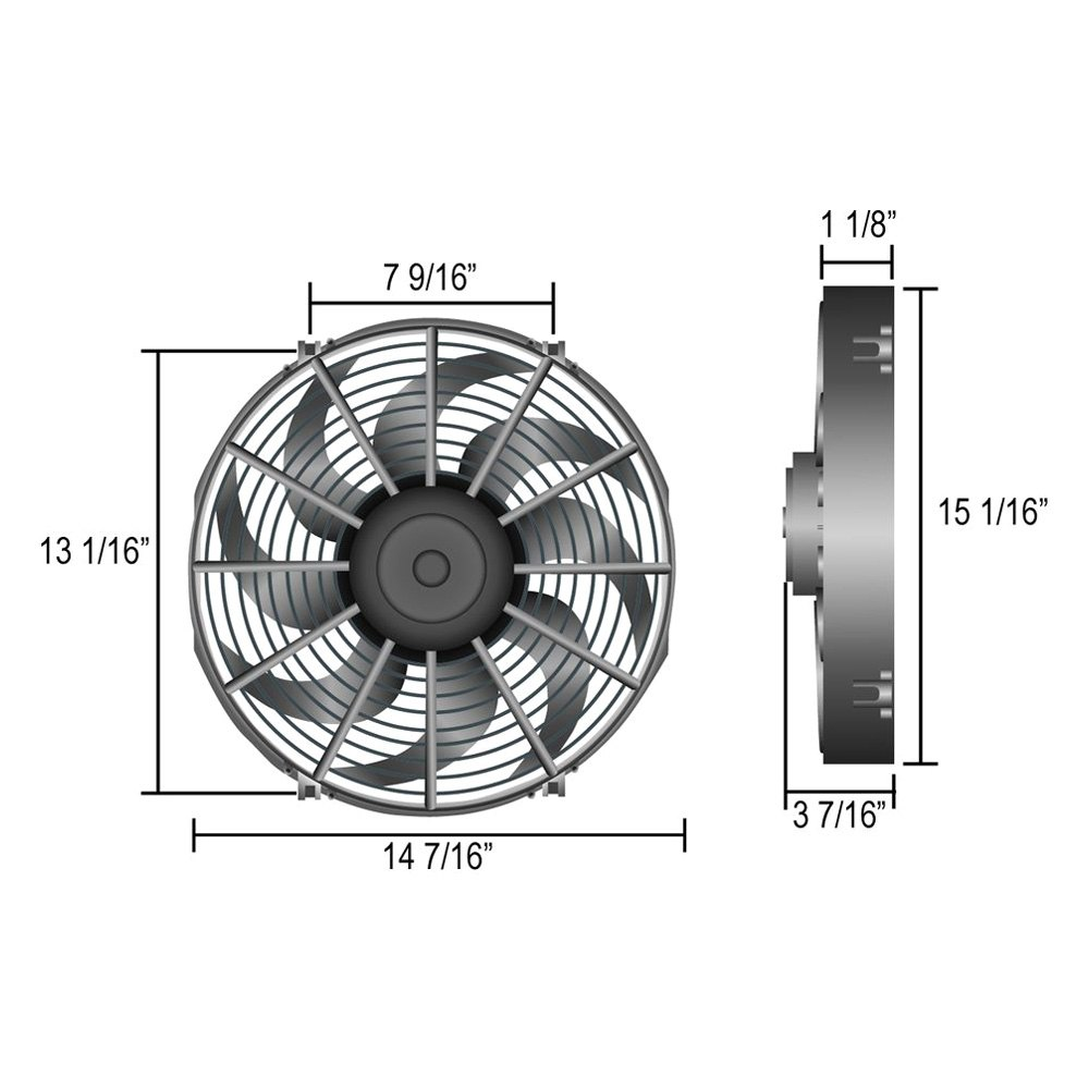 electric fan mounting kit instructions