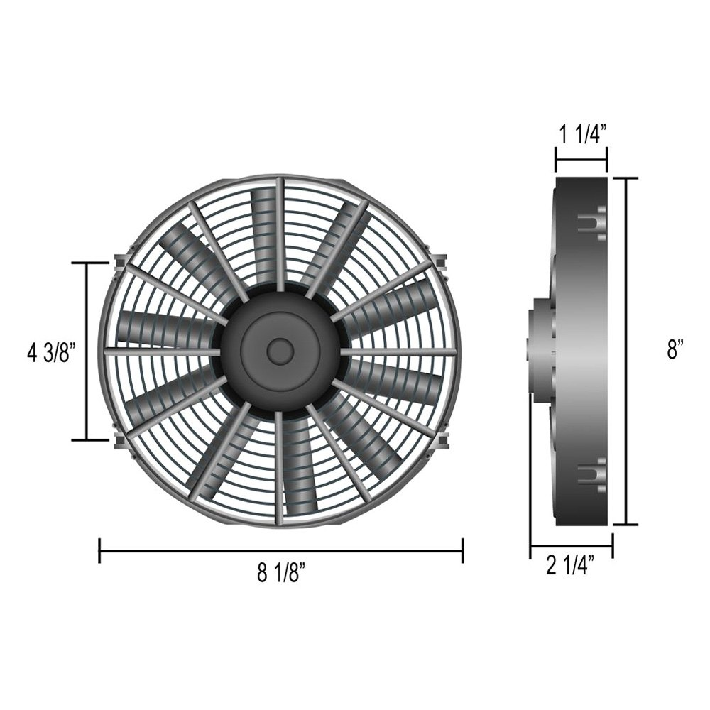 Derale Performance 16308 Dyno Cool Electric Fan And Mechanical
