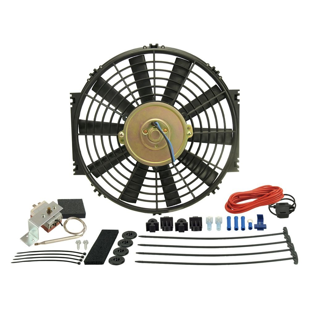 Derale Performance 16312 Dyno Cool Electric Fan And Mechanical Wiring Kit Controller