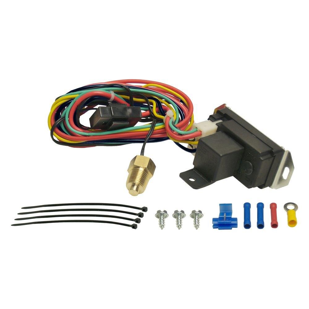 Derale Relay Wiring Diagram : Derale performance adjustable electric fan