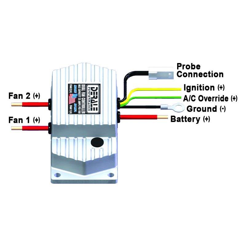 Derale Performance 16788 High Amperage Adjustable Dual Electric