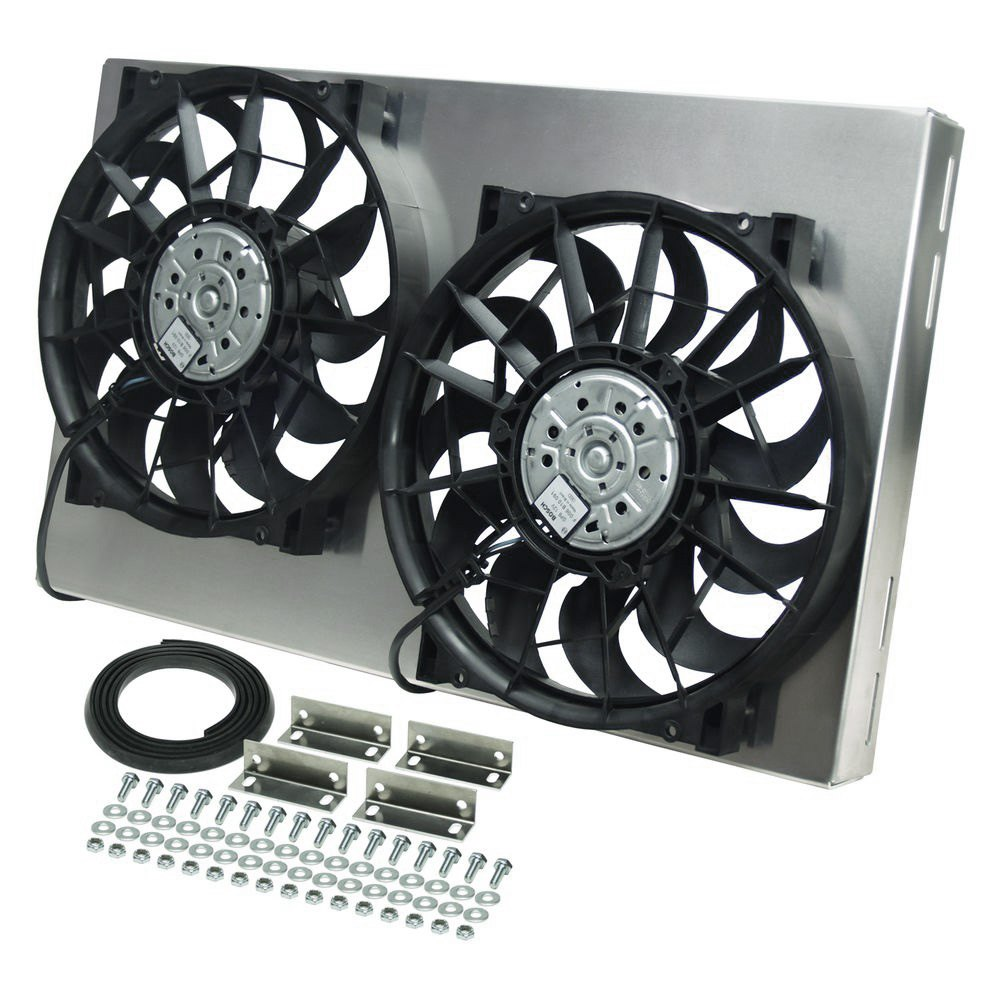Derale Performance 16825 Dual Electric Radiator Fan With Aluminum