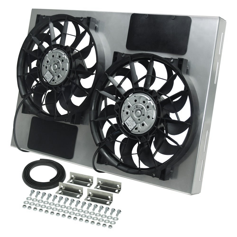 Derale Performance 16826 Dual Electric Radiator Fan With Aluminum