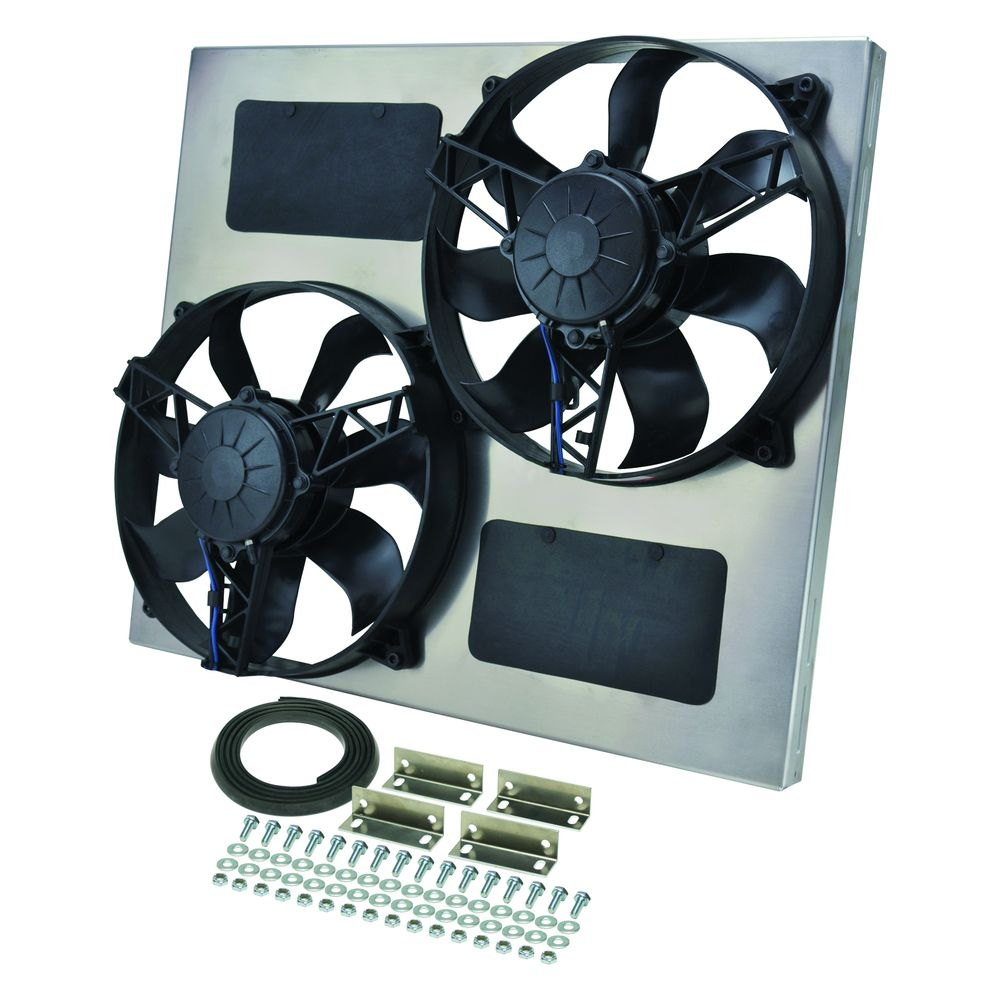 Derale Performance 16830 Dual Electric Radiator Fan With Aluminum