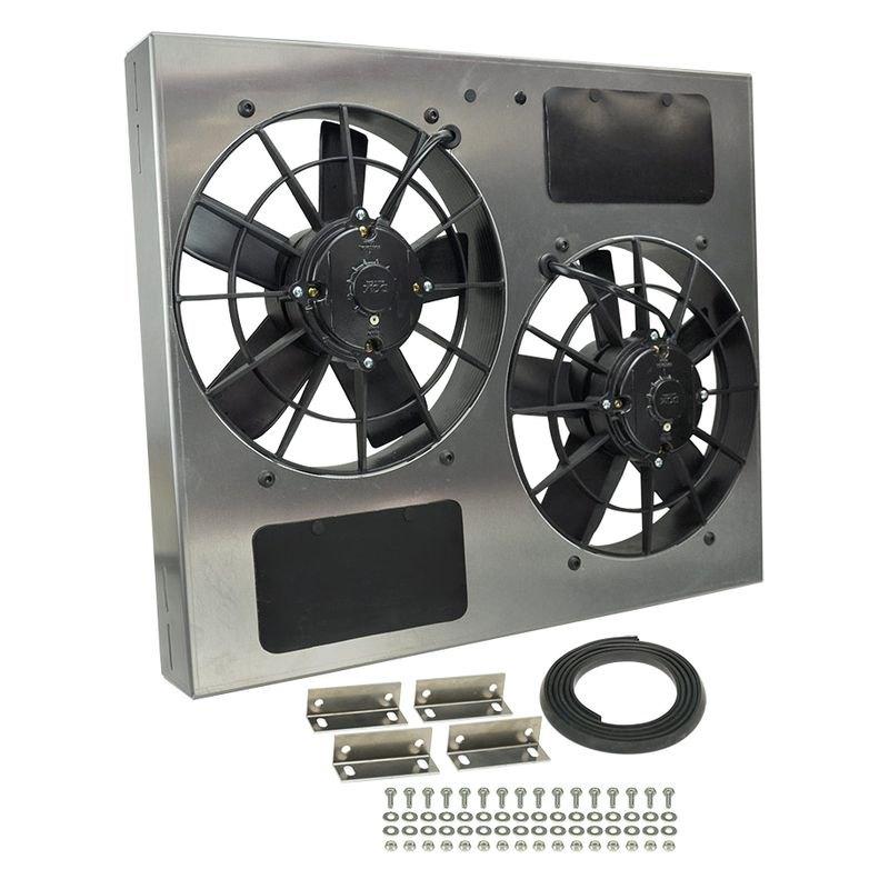 Derale Performance Dual Electric Radiator Fan With Aluminum Shroud Kit
