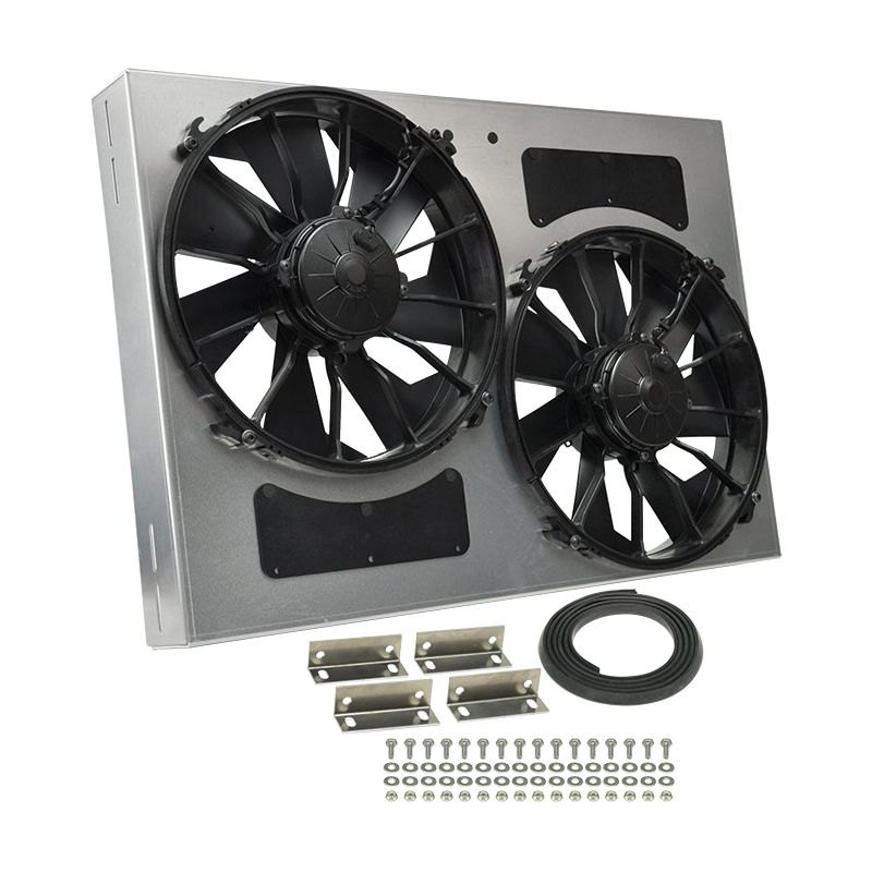 Derale Performance 16842 Dual Electric Radiator Fan With Aluminum