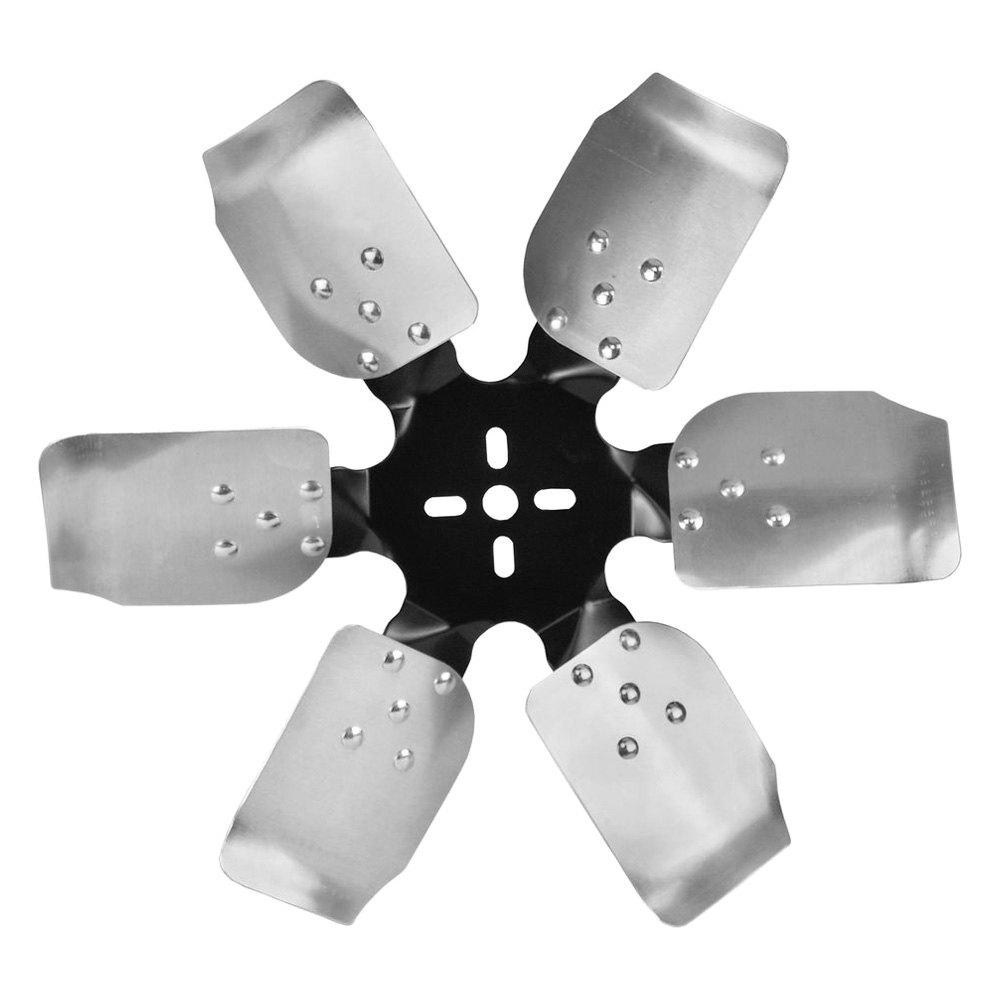 Replacement Aluminum Fan Blades : Derale performance standard rotation aluminum