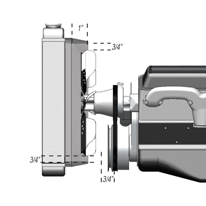 """Details about  /Derale 17615 Heavy Duty Stainless Steel 15/"""" Reverse Rotation Flex Fan"""