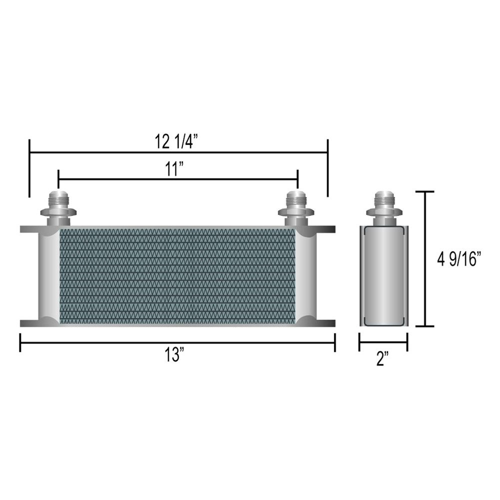 Derale Performance® - Series 10000™ Stack Plate Oil Cooler ...