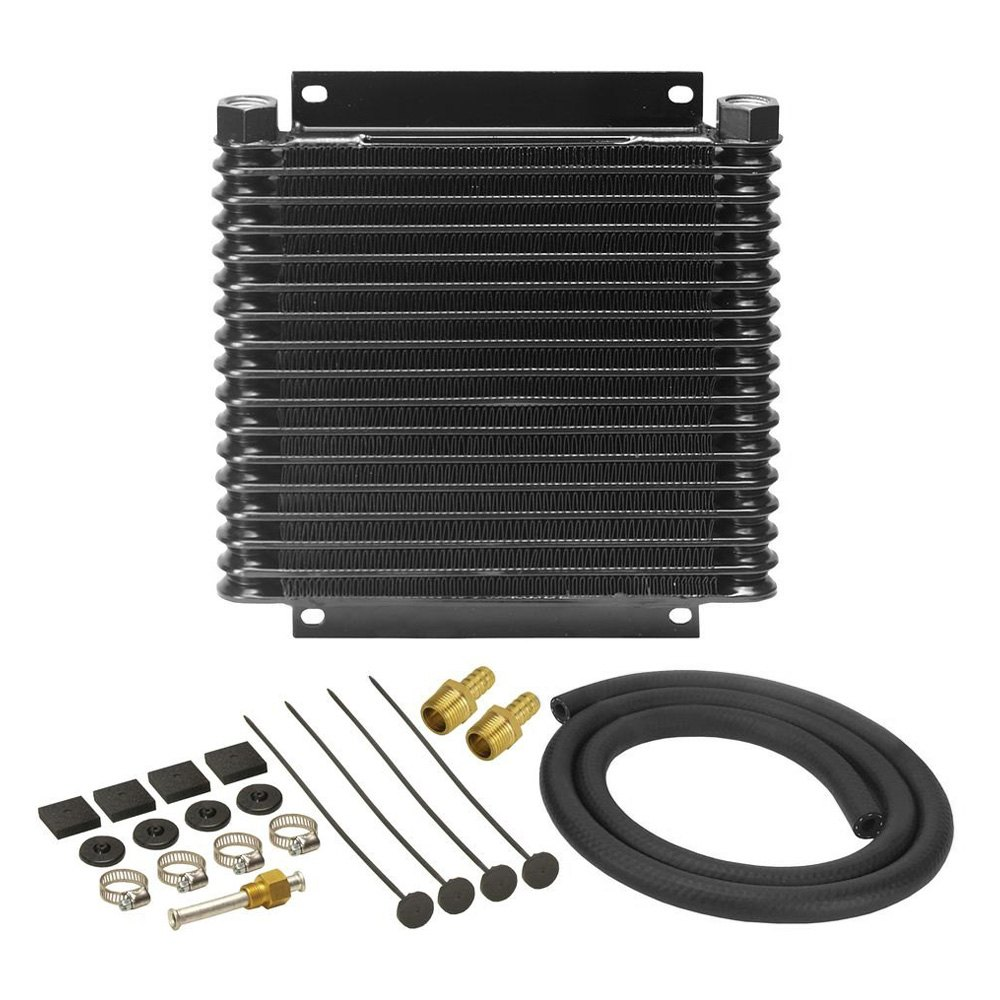 Racing Transmission Fluid Cooler : Derale performance series plate and fin