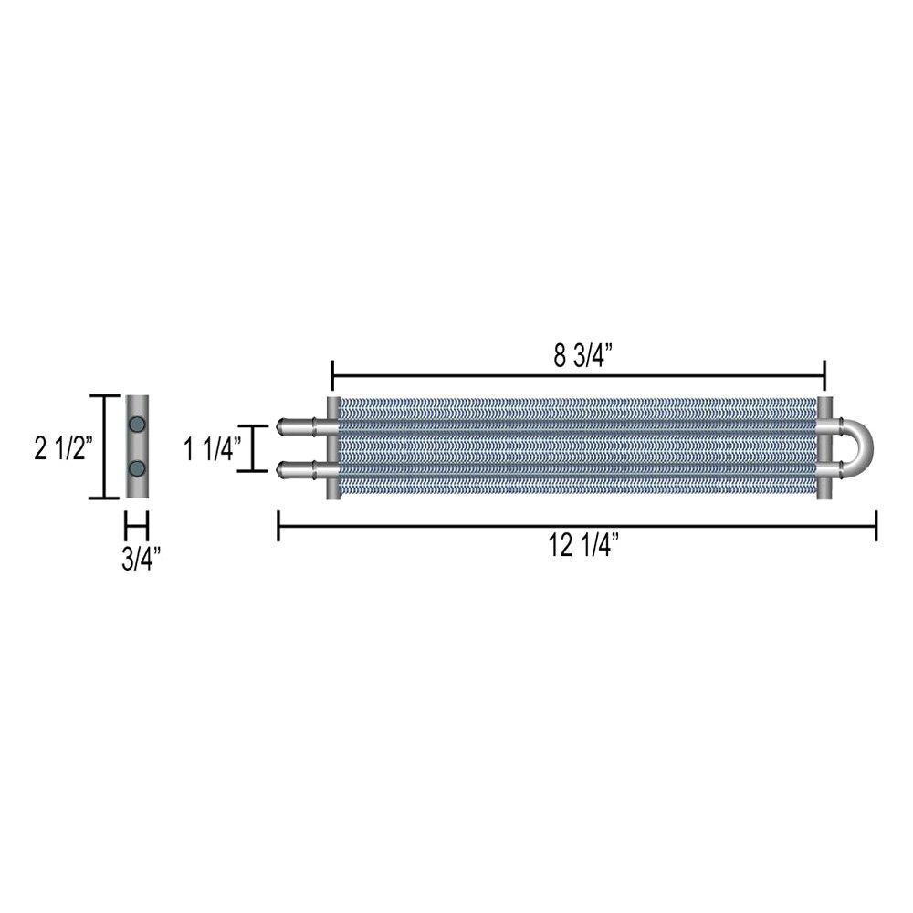 Derale Performance 12200 Series 6000 2 Pass Power Steering Cooler Aluminum Kit