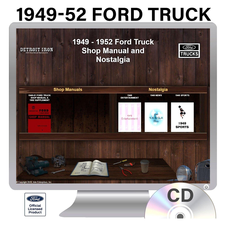 Detroit Iron® - 1949-1952 Ford Trucks Factory OEM Shop Manuals on CD