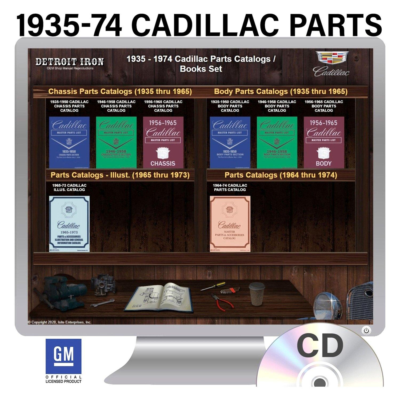 detroit iron dcdgm 147 1935 1974 cadillac parts manuals on cd rh carid com 1998 cadillac deville parts manual 2005 cadillac sts parts manual