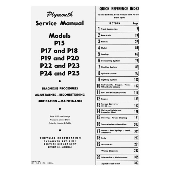 1949 Plymouth Wiring Diagram Battery