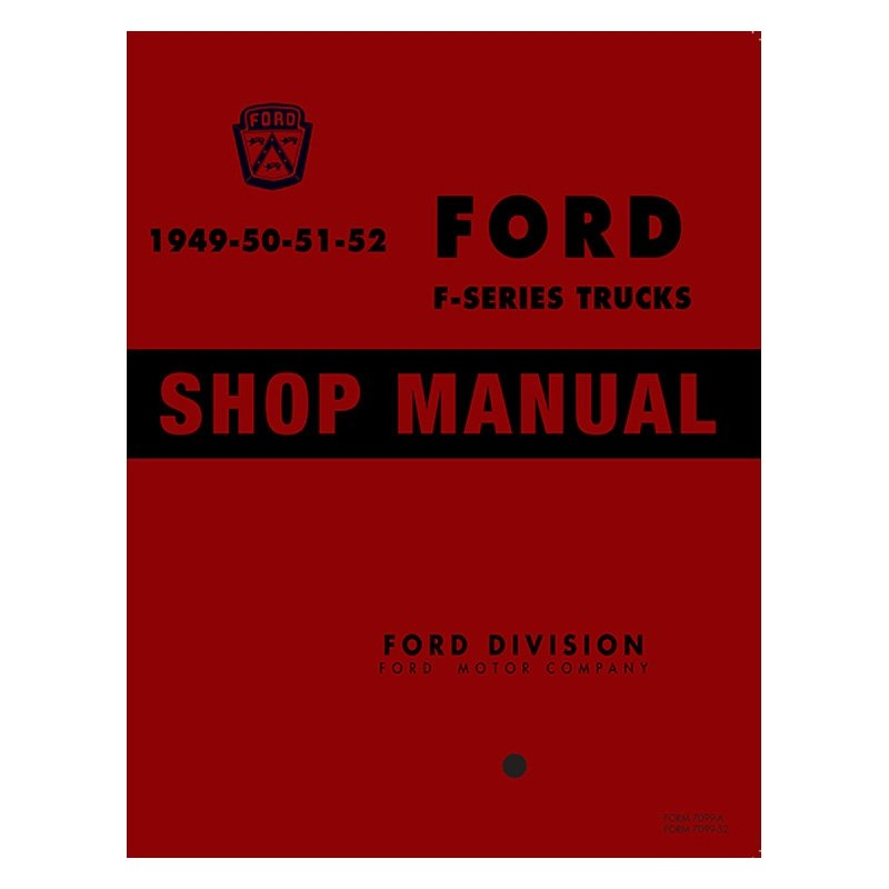 Detroit Iron® - 1949-1951 Ford F-Series Truck Shop Manual