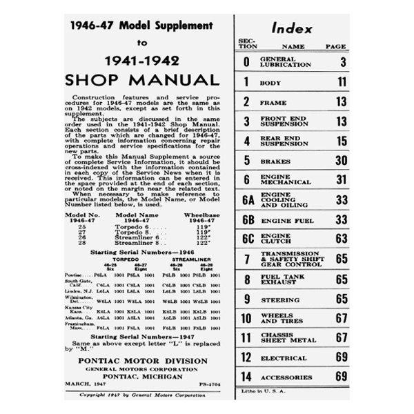 For Pontiac Chieftain 1942 Detroit Iron 1941-1948 Pontiac ...