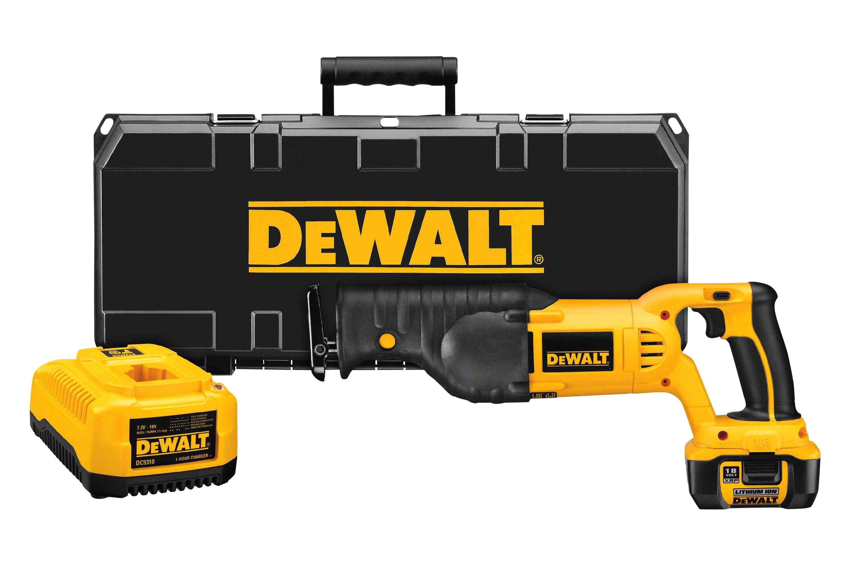 dewalt dcs385l 18v cordless reciprocating saw kit. Black Bedroom Furniture Sets. Home Design Ideas
