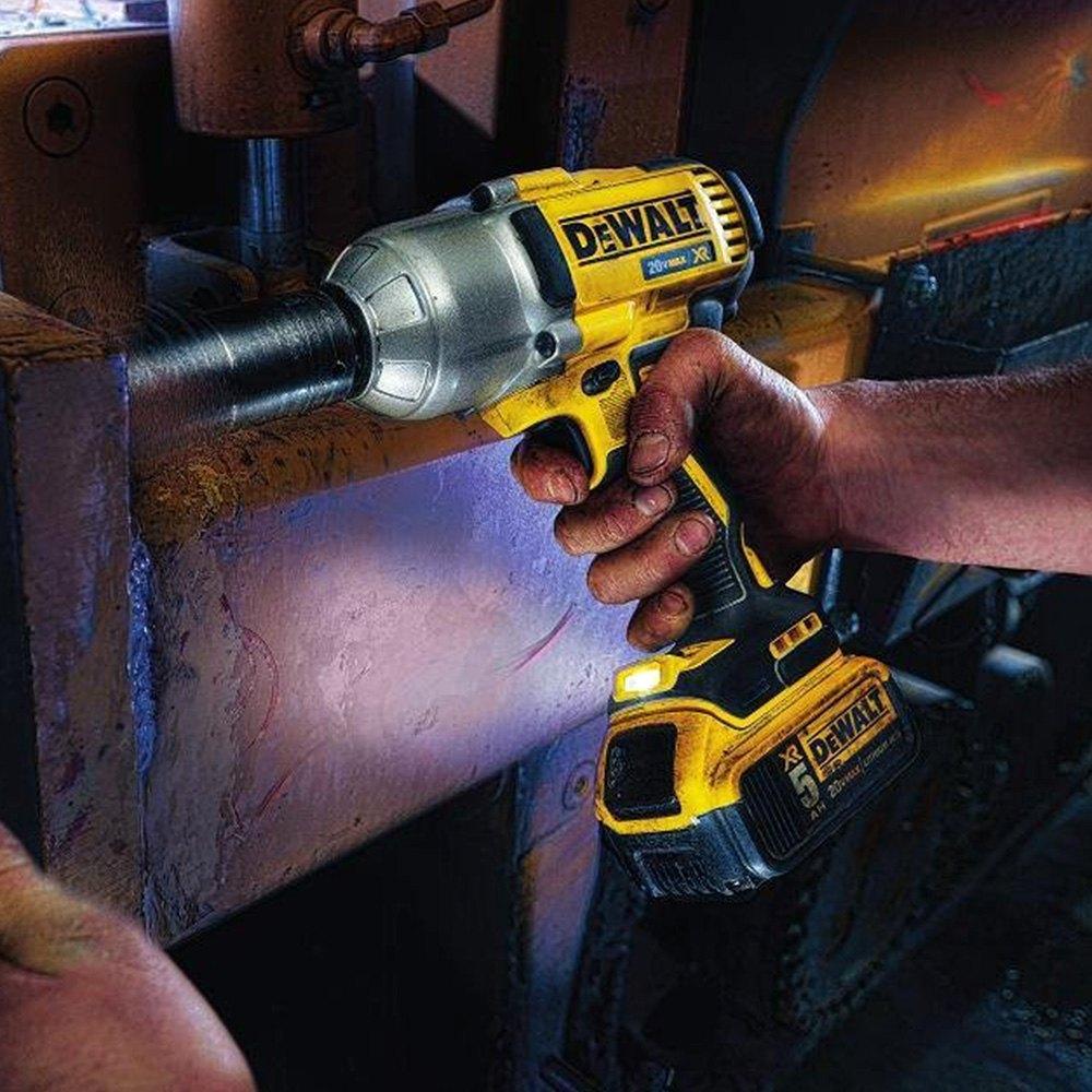"Dewalt Impact Wrench 1 2 >> DeWALT® DCF899P2 - 20v Max 5.0 Ah XR Brushless High Torque 1/2"" Impact Wrench Kit with Detent Anvil"
