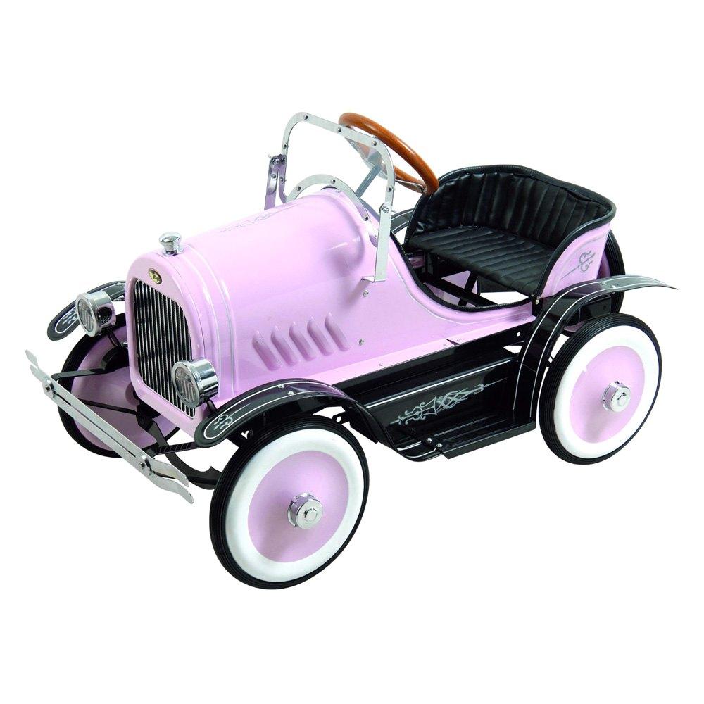 dexton kids deluxe pink roadster pedal car