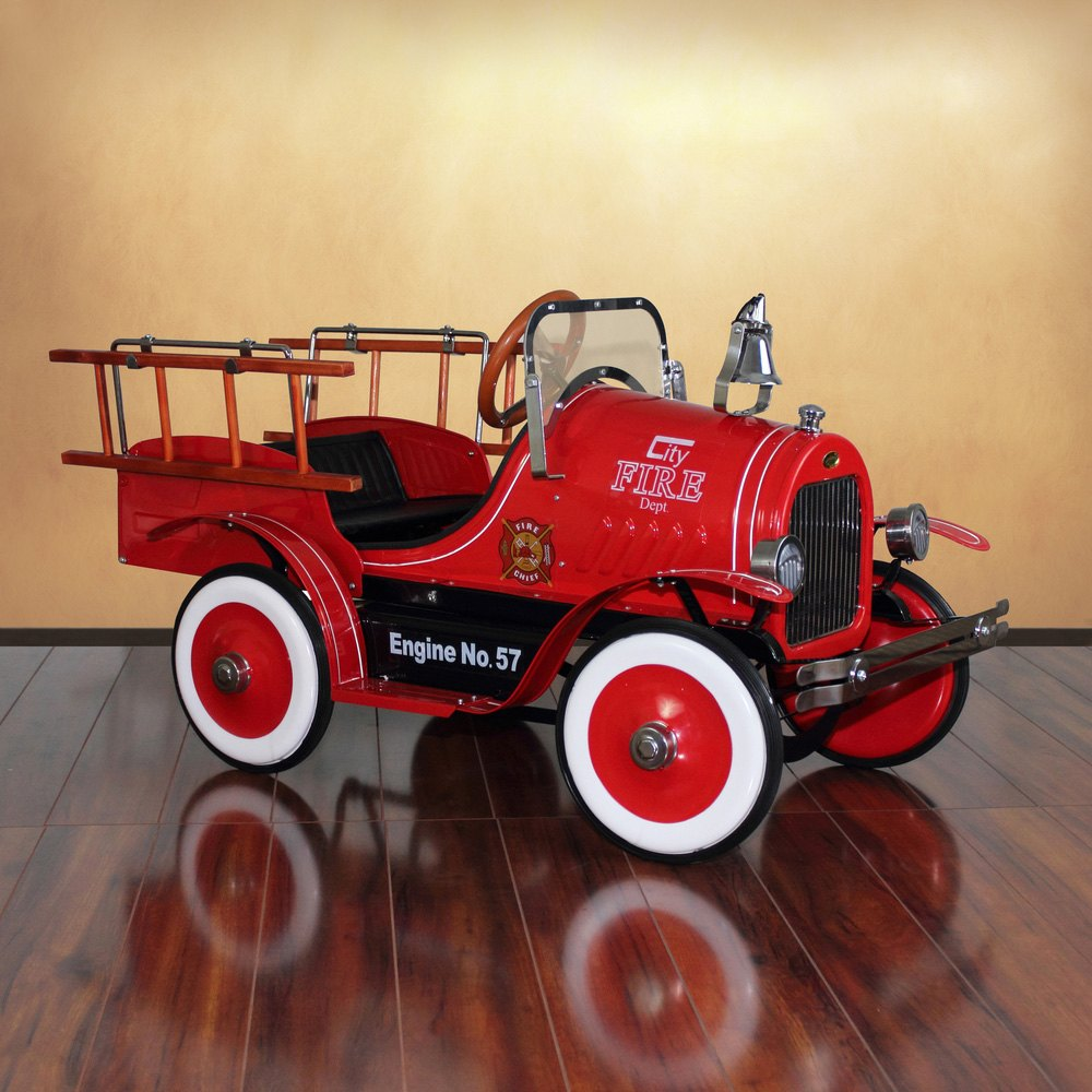dexton kids dx 20233 deluxe fire truck roadster pedal car