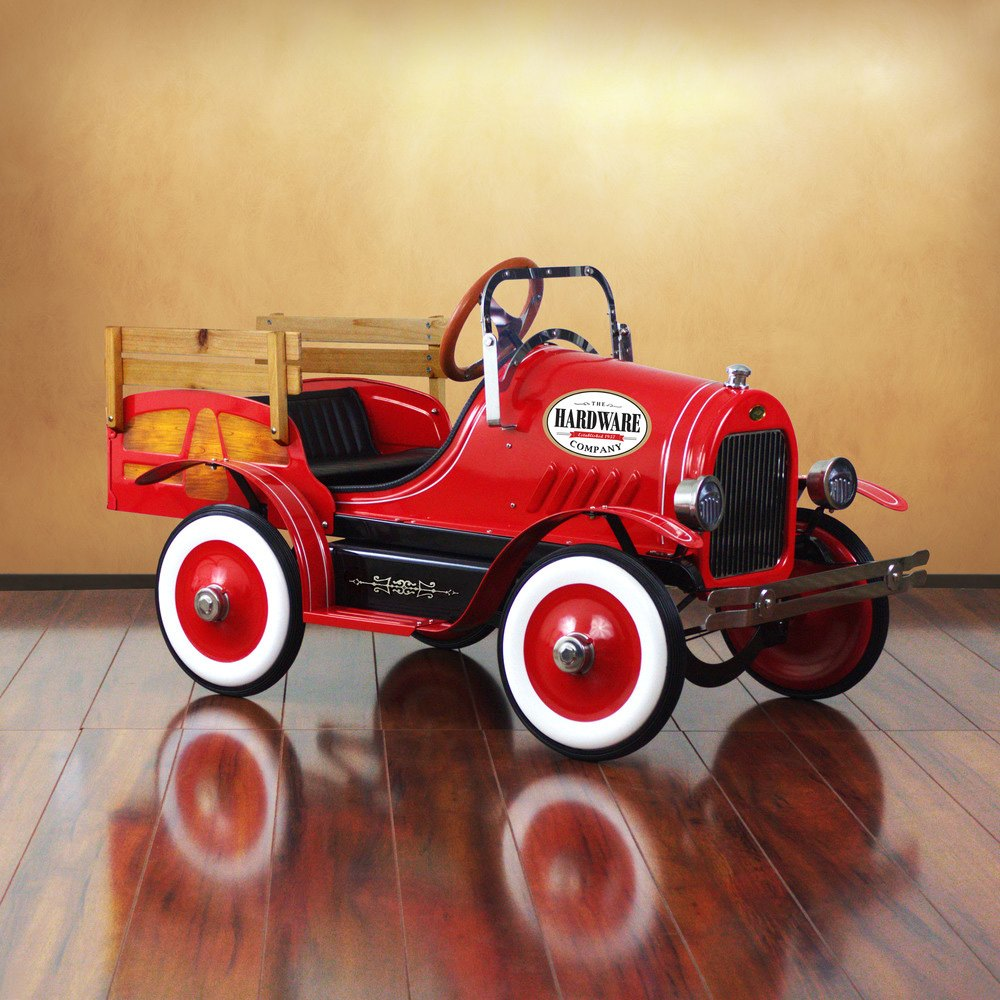 dexton kids® dx  vintage red delivery truck - dexton kids®  vintage red delivery