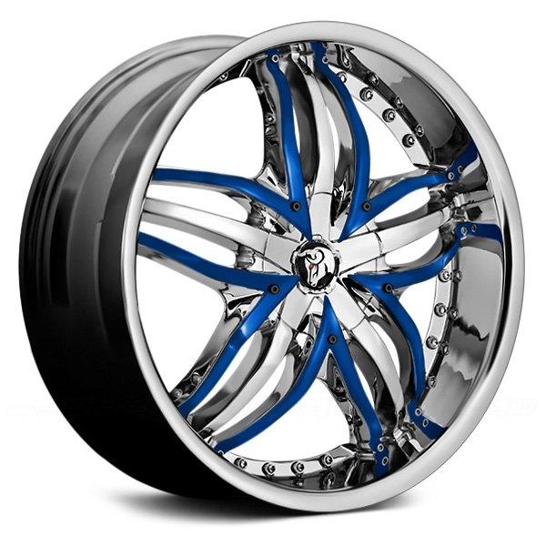 Re Chrome Rims >> Details About Diablo Angel Wheels 20x8 5 35 5x114 3 73 1 Chrome Rims Set Of 4
