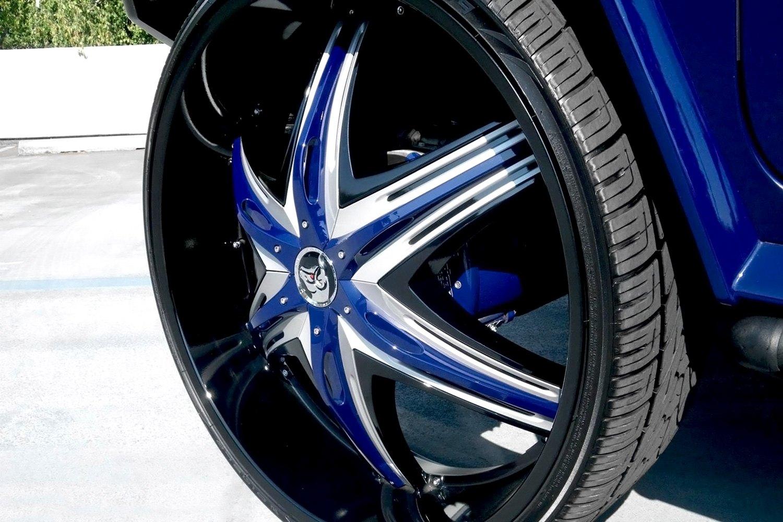 Diablo elite wheels black with chrome and black inserts for Custom elite
