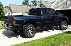 DICK CEPEK® - DC2 Gloss Black with Machined Face on Dodge Ram