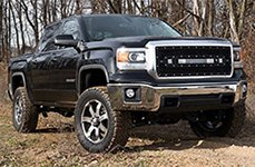 DICK CEPEK® - GUN METAL 7 Gunmetal with Machined Face and Clear Coat on GMC Sierra
