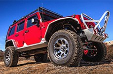 DICK CEPEK® - TORQUE Gunmetal with Machined Flange on Jeep Wrangler