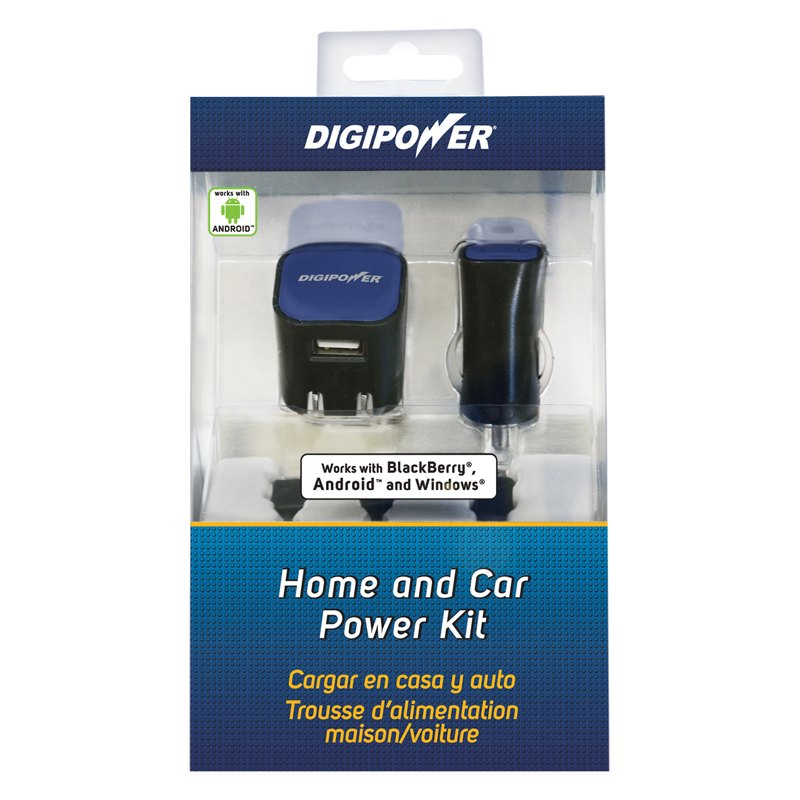 Digipower Sppk501 Smartphone Home And Car Charger Kit