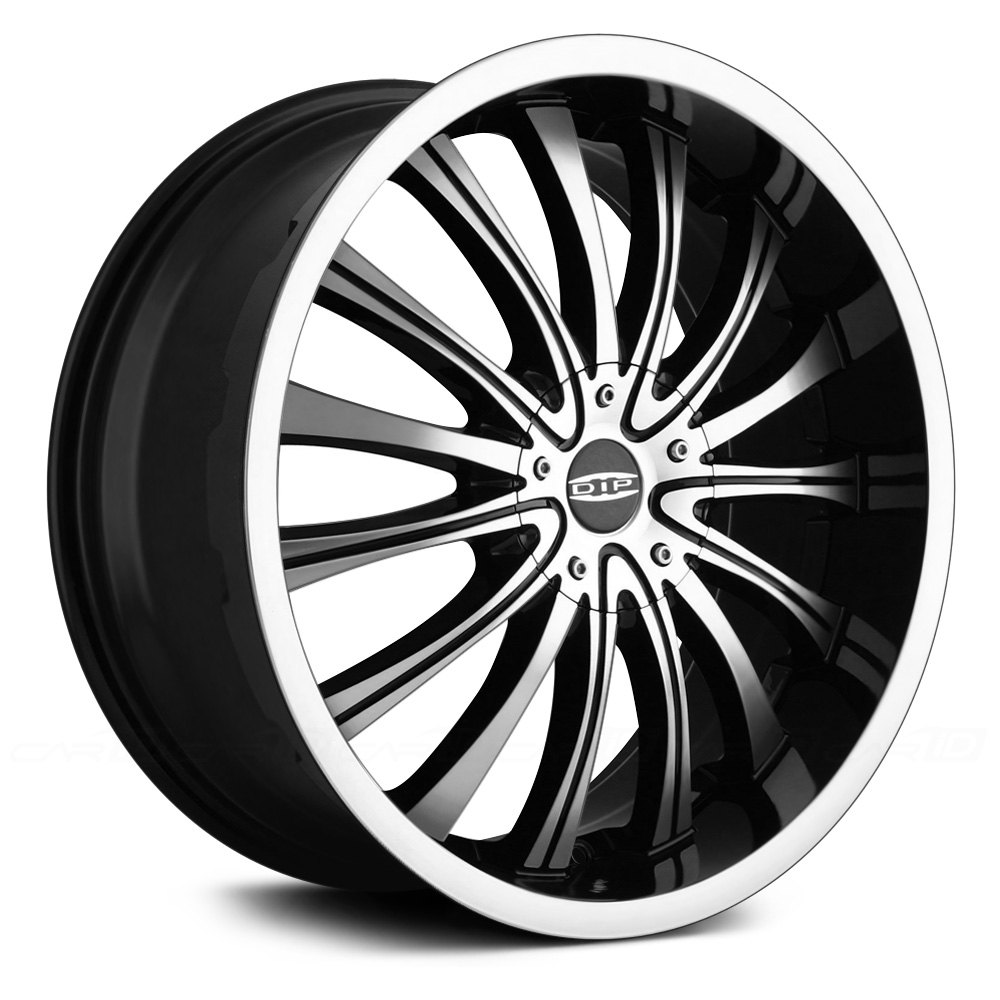 "Dip D50 Hype Wheels 20""x8.5"" - Black with Machined Face ..."