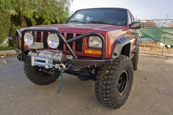 Dirtbound Offroad® - Extreme Full Width Raw Front Winch HD Bumper with  Grille Guard