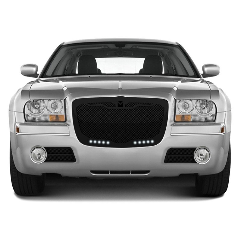 Chrysler 300 2005-2010 Macaro Black Mesh Grille