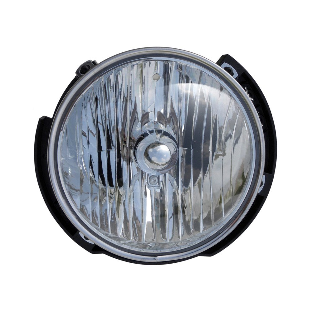 Dorman 174 Jeep Wrangler 2010 Replacement 7 Quot Round Chrome Composite Headlight