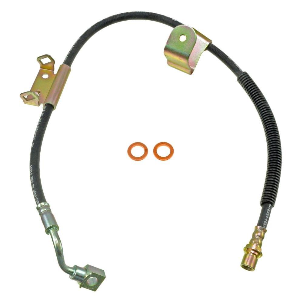 for chevy silverado 3500 01 07 dorman front driver side brake hydraulic hose 82702454367 ebay. Black Bedroom Furniture Sets. Home Design Ideas
