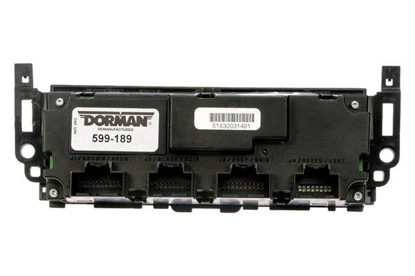 Dorman® 599-189 - Remanufactured Climate Control Module