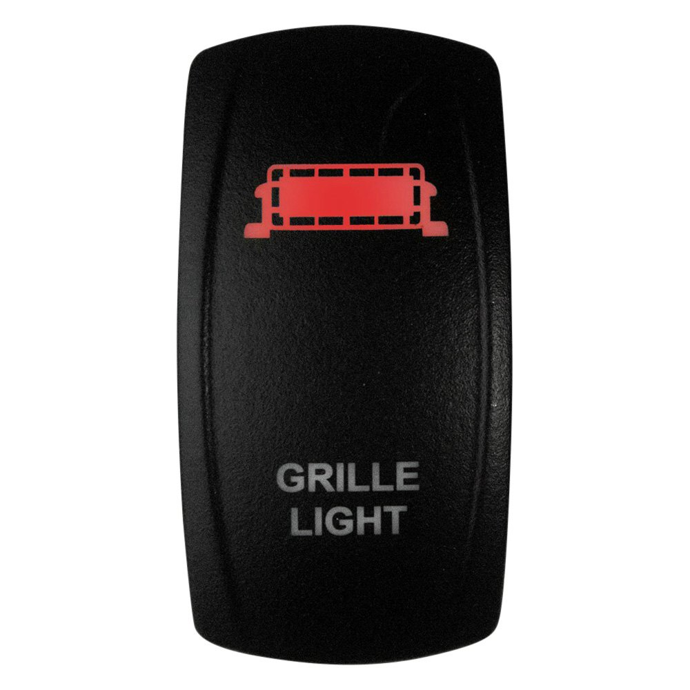Red Light Dragonfire Racing On//Off Rocker Switch 04-0026