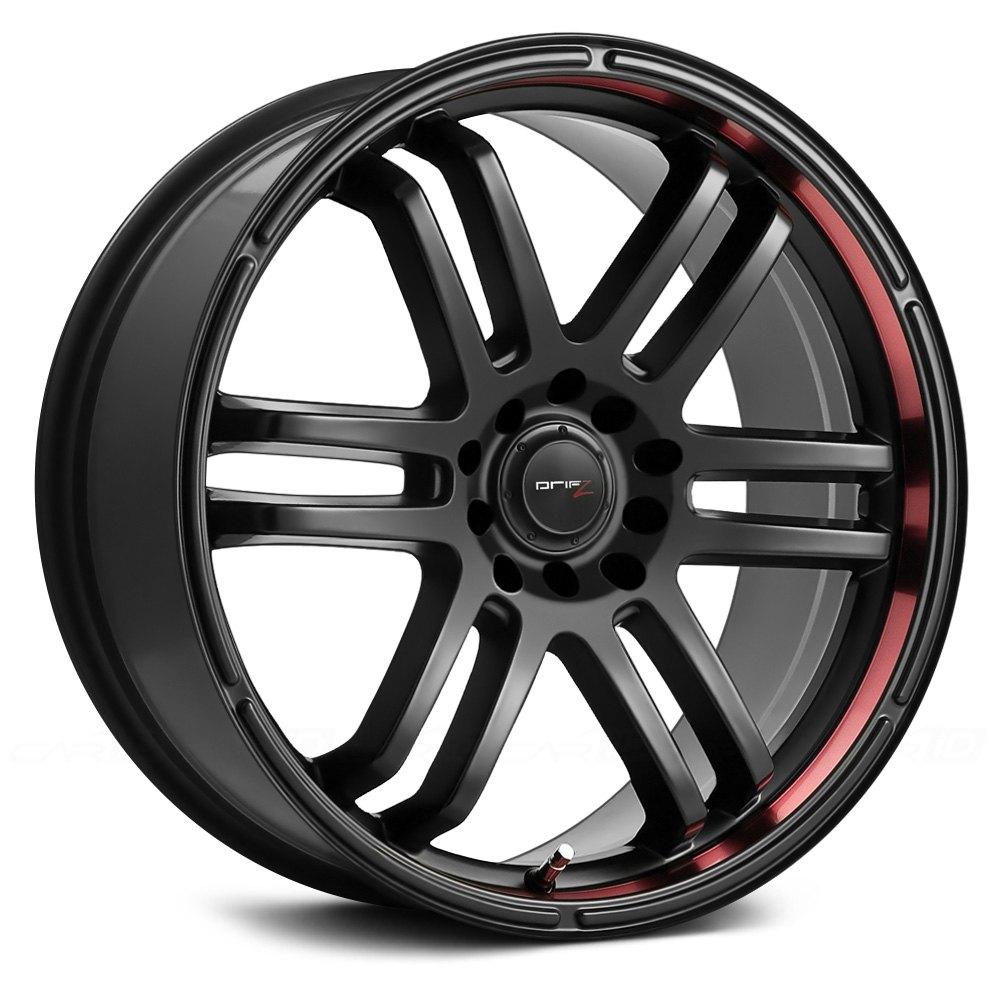 Drifz 174 207b Fx Wheels Black With Red Lip Rims