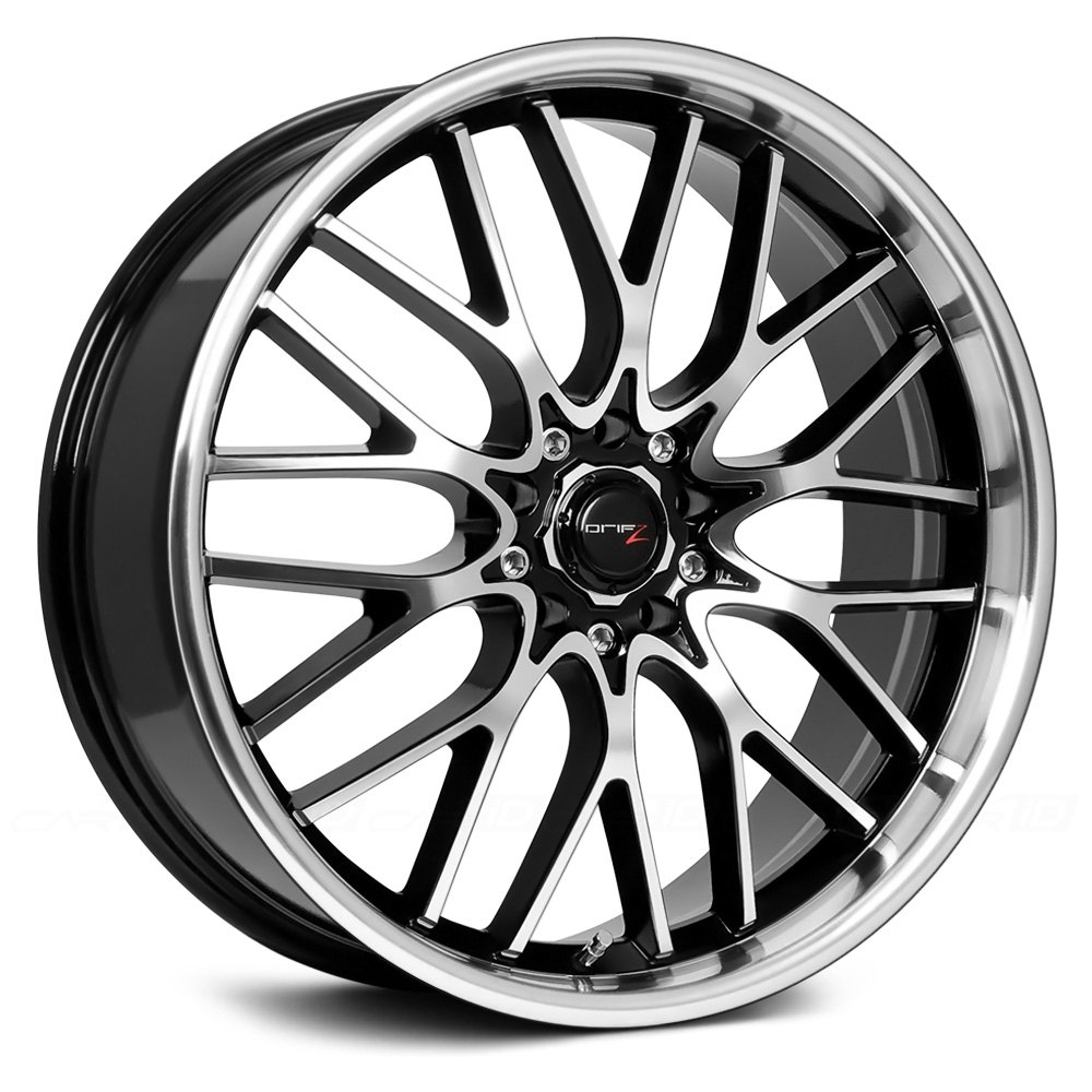 Drifz 174 302mb Vortex Wheels Black With Machined Face And