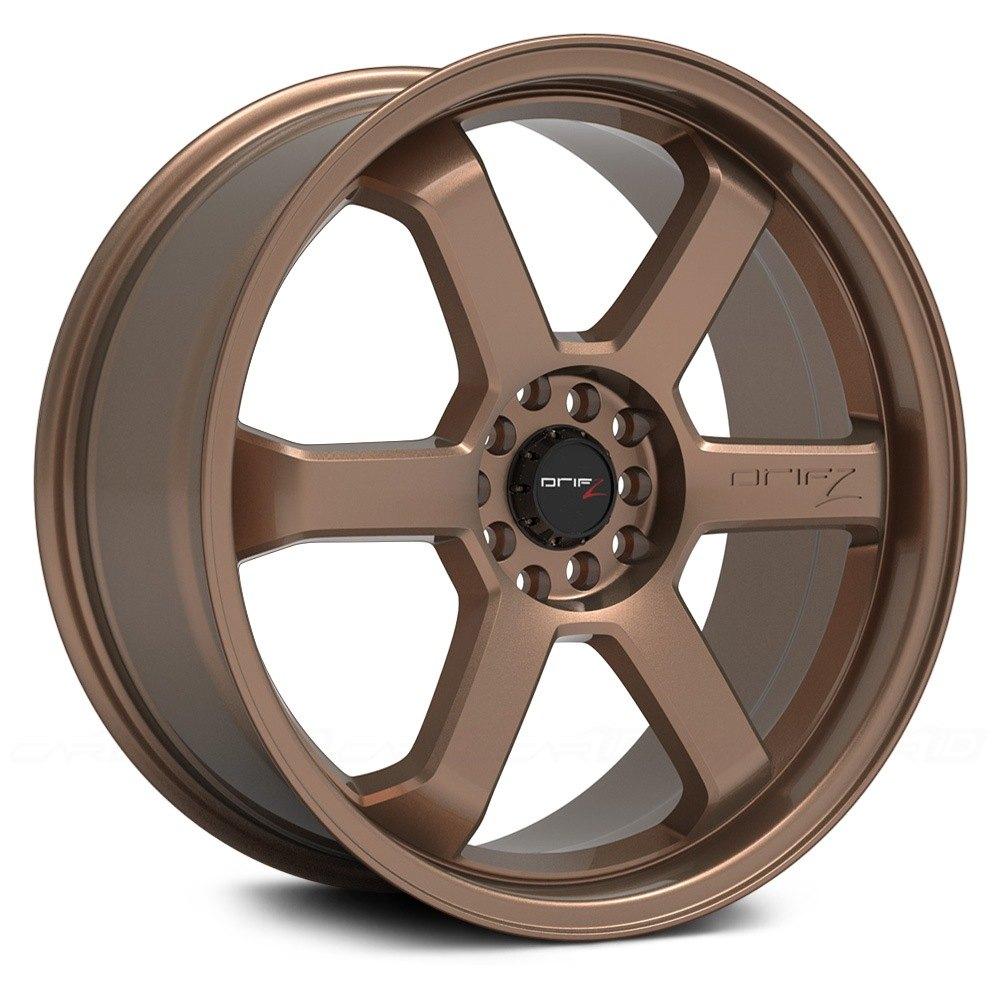 Drifz 174 303bz Hole Shot Wheels Satin Bronze Rims