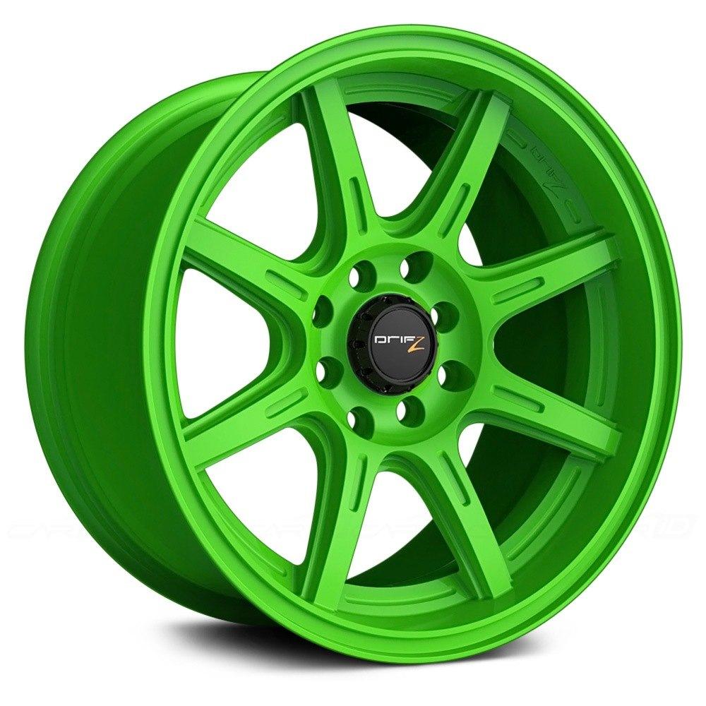 Drifz 174 308lg Spec R Gloss Lime Green Wheels