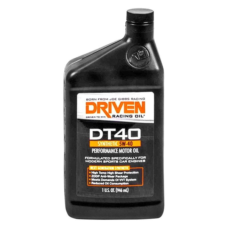 Driven racing oil dt40 5w 40 high performance synthetic for What kind of motor oil