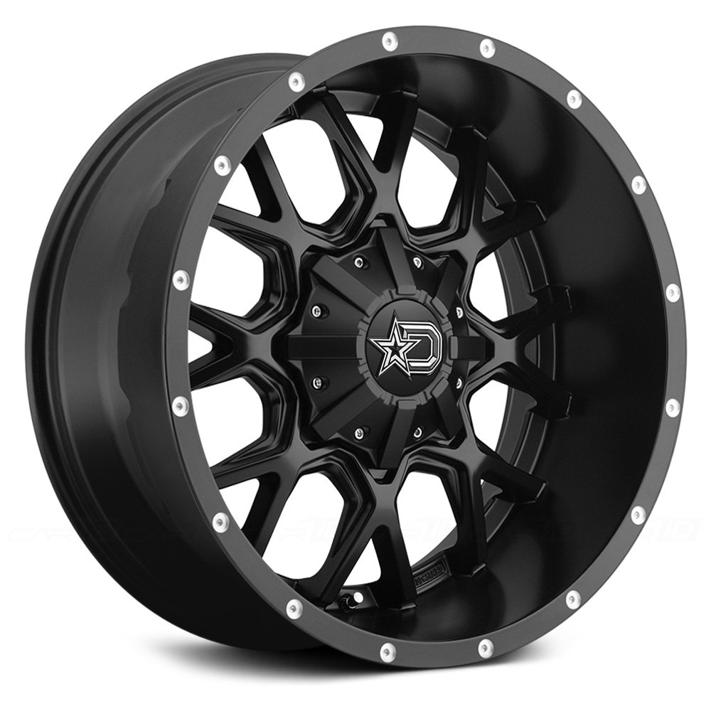Dropstars 174 645b Wheels Satin Black With Milled Lip Accents Rims